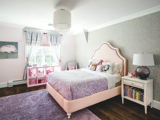 Girl's bedroom designed by Shelley Cekirge