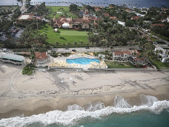 At President Donald Trump's Mar-a-Lago in Palm Beach, Fla.,  there is no system for keeping track of guests, including those who speak to Trump, according to the U.S. Secret Service.
