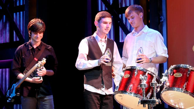 Lake Rise Place recieved the VSA Tennessee Young Soloist Award at the Fontanel. Pictured, from left, are group members Caleb Shown, Elliott McClain and Christian Kissinger.