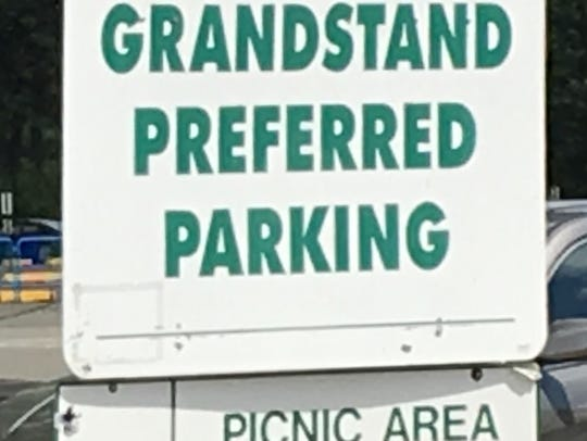 The Grandstand Preferred Parking on the north side