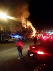 Two historic buidings burned in Port Gibson Monday night.