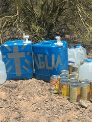 The Cabeza Prieta National Wildlife Refuge and the Barry M. Goldwater Air Force bombing range have threatened to sue, fine or ban visitors for leaving behindhumanitarian aid.