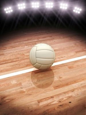 3d rendering of a Volleyball on a court with