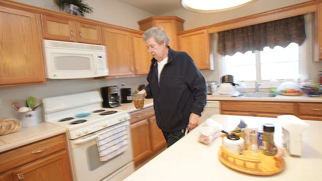 Stroke patient Robert Oliphant, a resident at Knoll Shared Living in Frankford Township, spends an afternoon in his shared home.