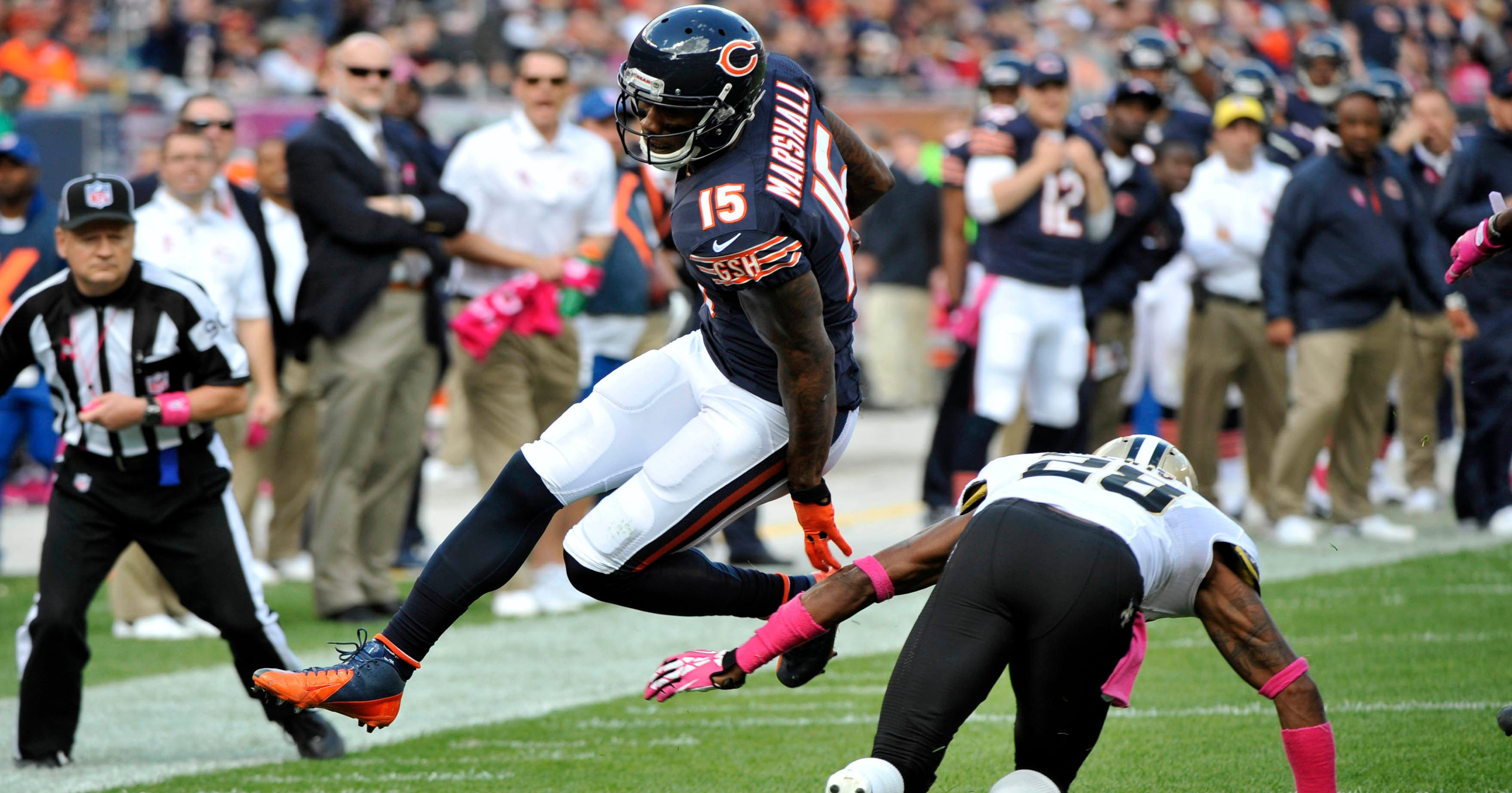 sports shoes 0f174 a43d5 Unapologetic Brandon Marshall still wants the ball more