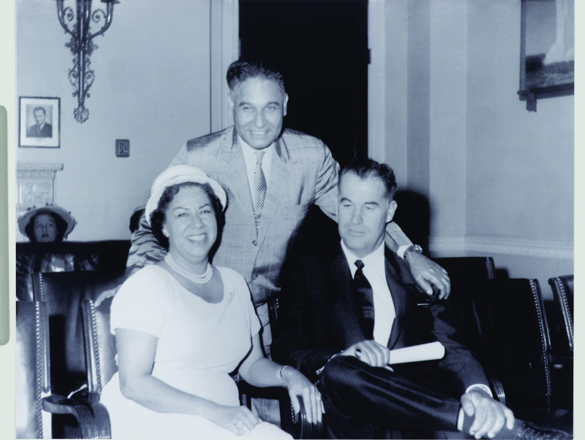 Vyola Ortner in Washington, D.C., with congressman