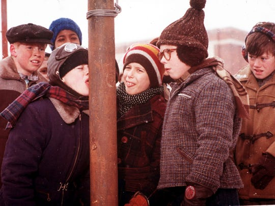"This movie scene from Jean Shepherd's ""A Christmas Story"" is a classic. Families who love the movie will enjoy ""A Christmas Story: The Musical"" running Nov. 28 to Dec. 21 at the Titusville Playhouse and ""A Christmas Story"" at Surfside Playhouse from Dec. 12 to 21."