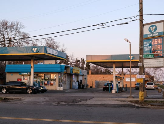 A Valero gas station on W. McNichols in Detroit is