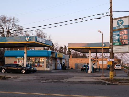 A Valero gas station on W. McNichols in Detroit is seen on Thursday, April 19, 2018. The owner would like to be a part of the Green Light Program with the City of Detroit Police Department.