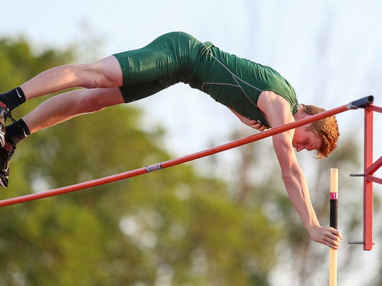 FILE -- Lawrence North's Nathan Stone is a record-setting pole vaulter.