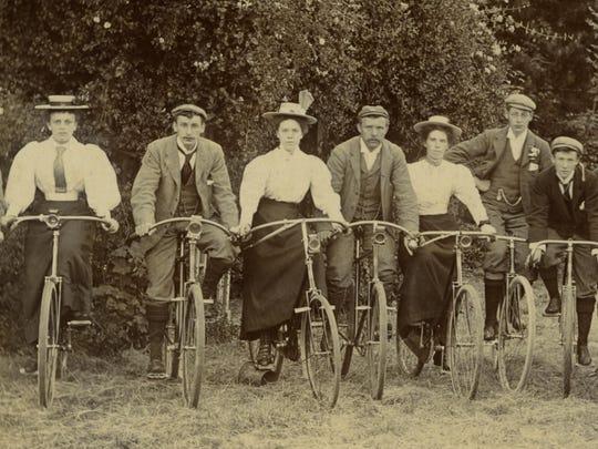 Mold Cycling Club, England, circa 1894.