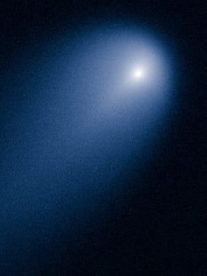 This comet was spotted by the Hubble Space Telescope, not by Earth-bound astronomers with low-power telescopes