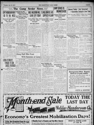 Page 3 of The Greenville Daily News on July 31, 1917.