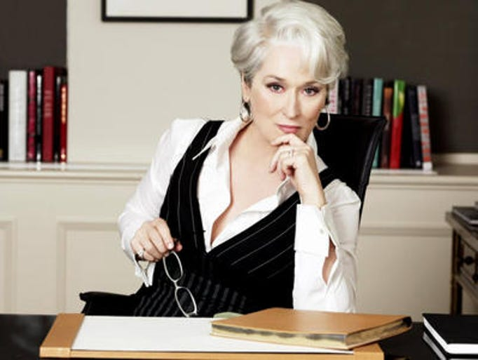 "Miranda Priestly, played by Meryl Streep,  played the ruthless editor-in-chief of the fashion magazine ""Runway"" in the movie ""The Devil Wears Prada."""