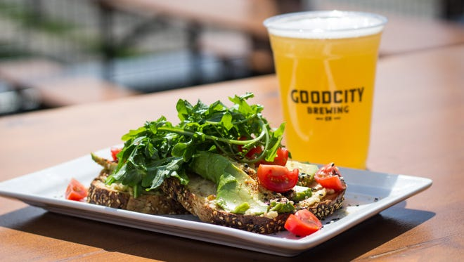 Avocado toast is one of several new dishes to go with the new lunch service starting May 21 at Good City Brewing, 2108 N. Farwell Ave.