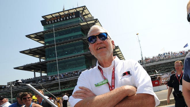 FILE -- David Letterman was all smiles before the running of the 96th Indianapolis 500, May 27, 2012 at the Indianapolis Motor Speedway.