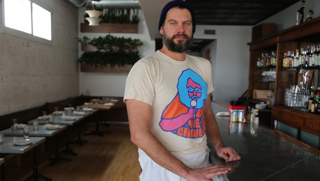 Supino Pizzeria owner Dave Mancini, 43, pictured in the dining room of his sister restaurant La Rondinella, which he will be shuttering January 21 to make way for a Supino expansion.