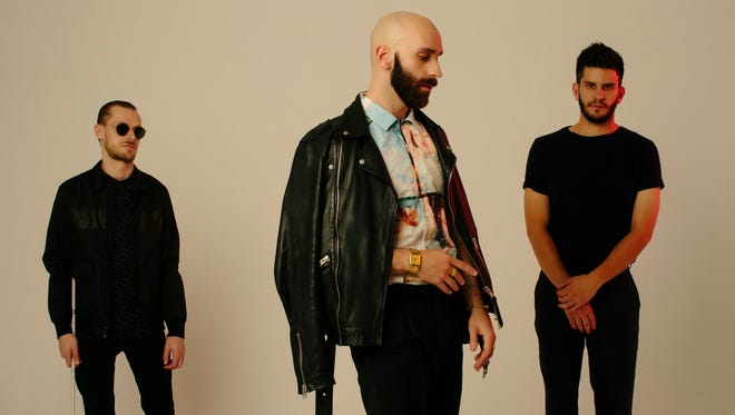 """X Ambassadors: Casey Harris, Sam Harris and Adam Levin. The pop-rock band's breakthrough album, """"VHS,"""" was released in 2015 and members have been in no hurry to release a follow-up."""