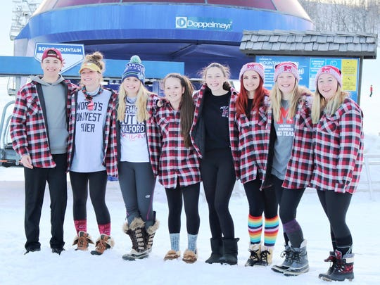 The Milford girls ski team took fourth in the team