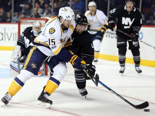 NHL: Nashville Predators at New York Islanders