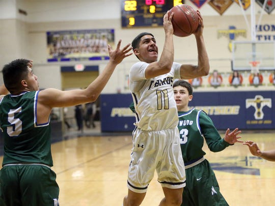 Ayaan Sohail, 11, takes a shot against Montwood in a game during his high school career.