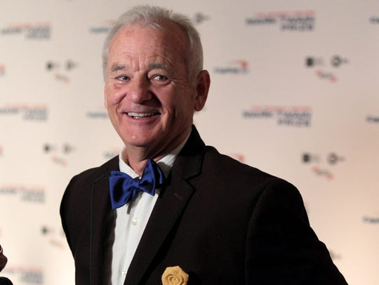 Bill Murray arrives at the Kennedy Center for the Performing