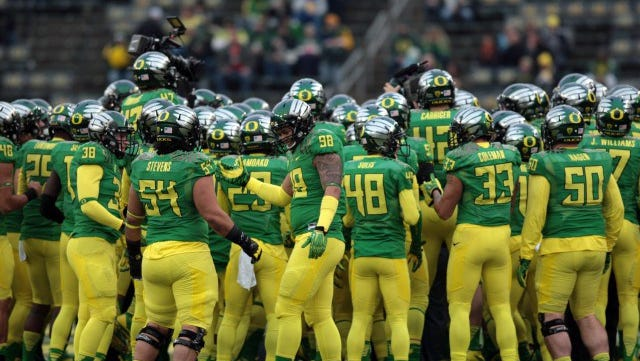 A team with countless uniform combinations, of course Oregon is No. 1.
