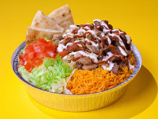 "The Halal Guys, a network of Manhattan ""halal carts,"""