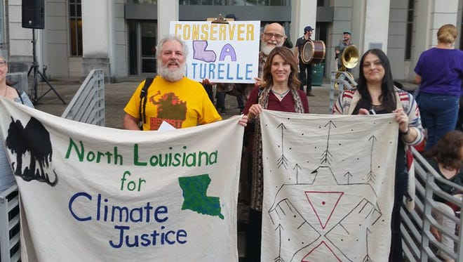 North Louisiana for Climate Justice, a Shreveport-Bossier environmental group, traveled to the Bayou Bridge Pipeline protest and public hearing in Baton Rouge on Jan. 12