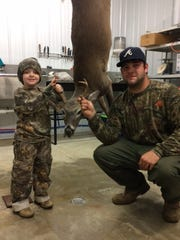 Hunting in Marion County with his father, Devon Hilburn,
