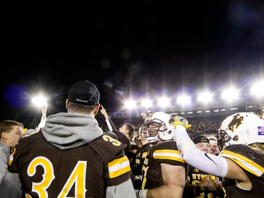 premium selection 7bdd9 91a46 Wyoming football sees resurgence under Bohl
