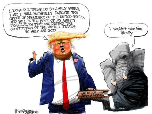 Trump's sort-of oath of office