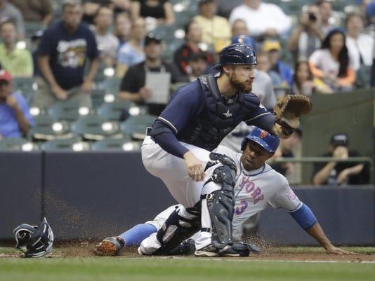 Mets Brewers Baseball (2)