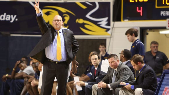 East Tennessee State head coach Steve Forbes, who was