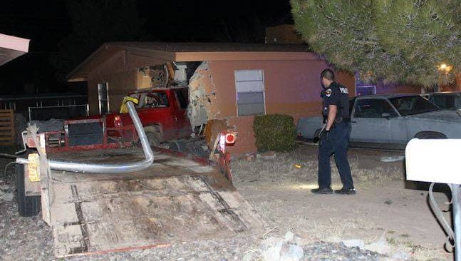 Joseph Gaytan, a Las Cruces man, has been charged with multiple felonies after he allegedly tried stealing a pickup truck before crashing into a light pole and then into a house on La Fonda Drive on Monday.
