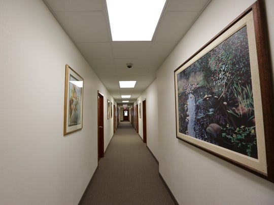 A hallway inside the Frederic Ozanam Transitional Shelter