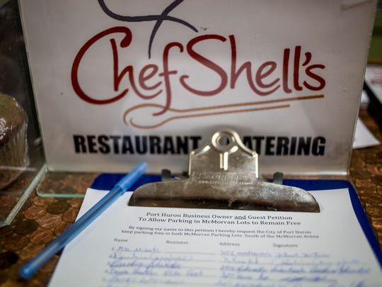 Chef Shell's Restaurant and Catering has started a petition asking the city to keep parking free in the parking lots south of McMorran Place.
