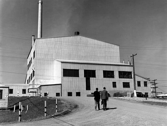 The graphite reactor at Oak Ridge National Laboratory.