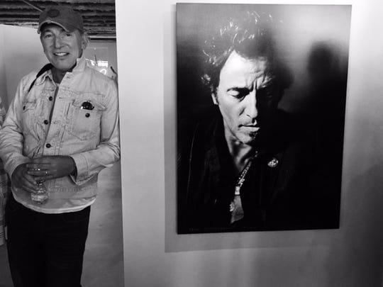 Bruce Springsteen at Danny Clinch's Transparent gallery in Asbury Park.