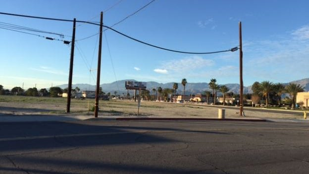 The site of the proposed Riverside County Department of Public Social Services in Coachella.