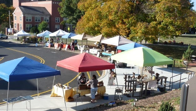 The Mars Hill Farmers and Artisans Market runs Saturdays from 9 a.m.-noon on College Street on the Mars Hill University campus beginning April 7.