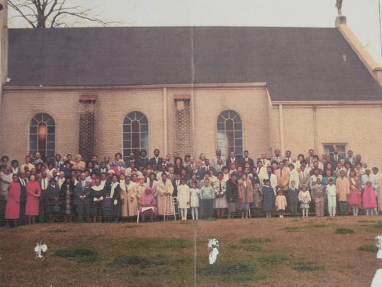This photo was taken in 1989 after the last church service in Newman United Methodist Church's building at Eighth and Fulton streets. That building was torn down to make way for Interstate 49.