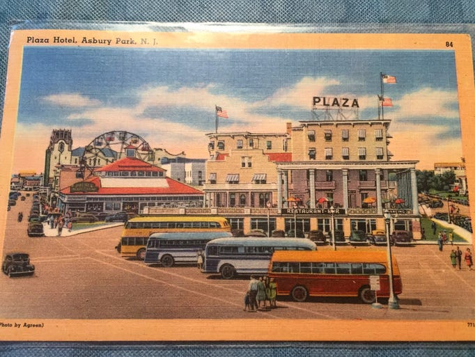 The old Plaza Hotel and Palace amusement park in the