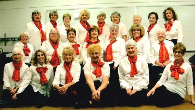 The Desert Dames Half Notes choir perform Friday at 5:30 p.m. at the Presbyterian Church.