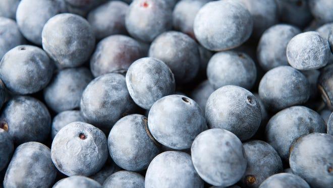 Full Frame View Of Blueberries