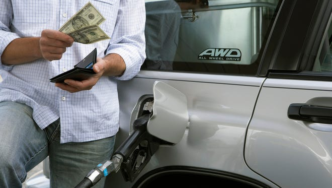 The average gasoline price in Monmouth and Ocean counties on Monday was $2.92 a gallon compared with $2.39 a gallon a year ago. The statewide average was $2.89 a gallon compared with $2.26 last year, according to the AAA Fuel Gauge Report.