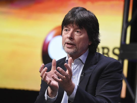 Documentary filmmaker Ken Burns participates in a panel