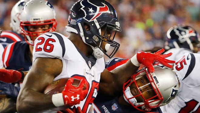 Texans RB Lamar Miller played well in this season's first meeting with the Patriots.
