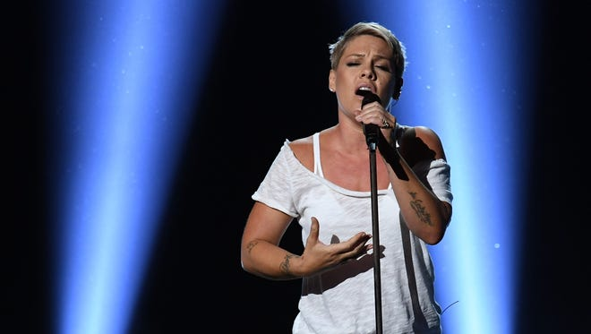 Pink performs onstage during the 60th Annual GRAMMY Awards at Madison Square Garden on January 28, 2018 in New York City.