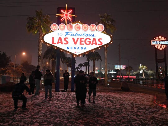 Rare Winter Storm Hits Las Vegas